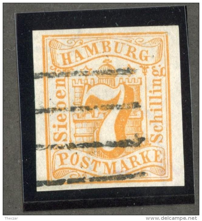 GS-962  Hamburg 1859  Michel #6  (o) Signed  Scott #6 ~ Offers Welcome! ~ - Hamburg