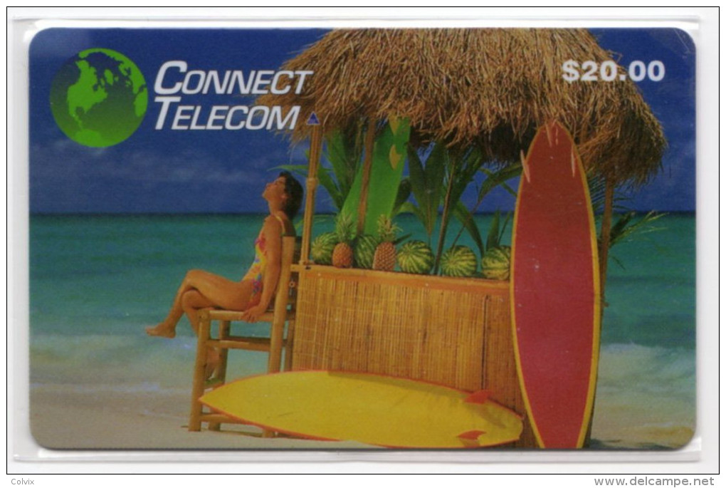 ETATS UNIS PREPAID 20$ CONNECT TELECOM Planche A Voile, Ananas Pasteque - Vereinigte Staaten