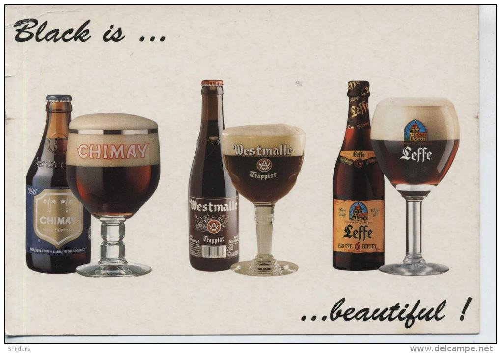 Black Is ... Beautifull Reclame Voor Belgisch Bier Ongebruikt Belgian Beer Publicitycard Unused - Publicité