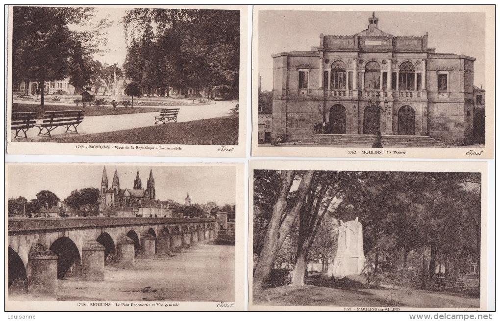 Lot  DE   15  D E   MOULINS ( 03 )     -  Toutes Scanées ) - Cartes Postales