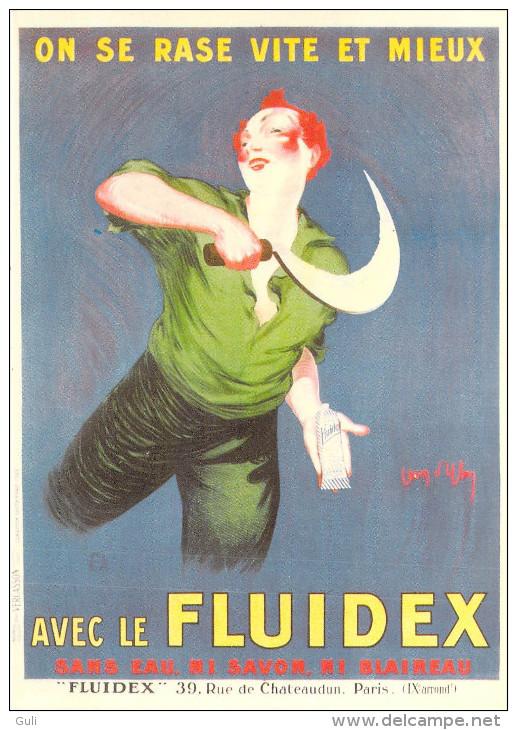 PUB Publicité NUGERON  VA 25 VIEILLES AFFICHES - FLUIDEX D´après Jean D´YLEN -  (chaussures) *PRIX FIXE - Advertising