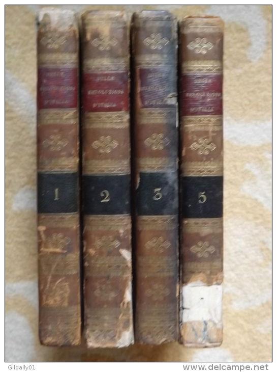 DELLE RIVOLUZIONI D'ITALIA. Libri Venticinque Di Carlo Denina.  1820. T1.2.3.5 - Boeken, Tijdschriften, Stripverhalen