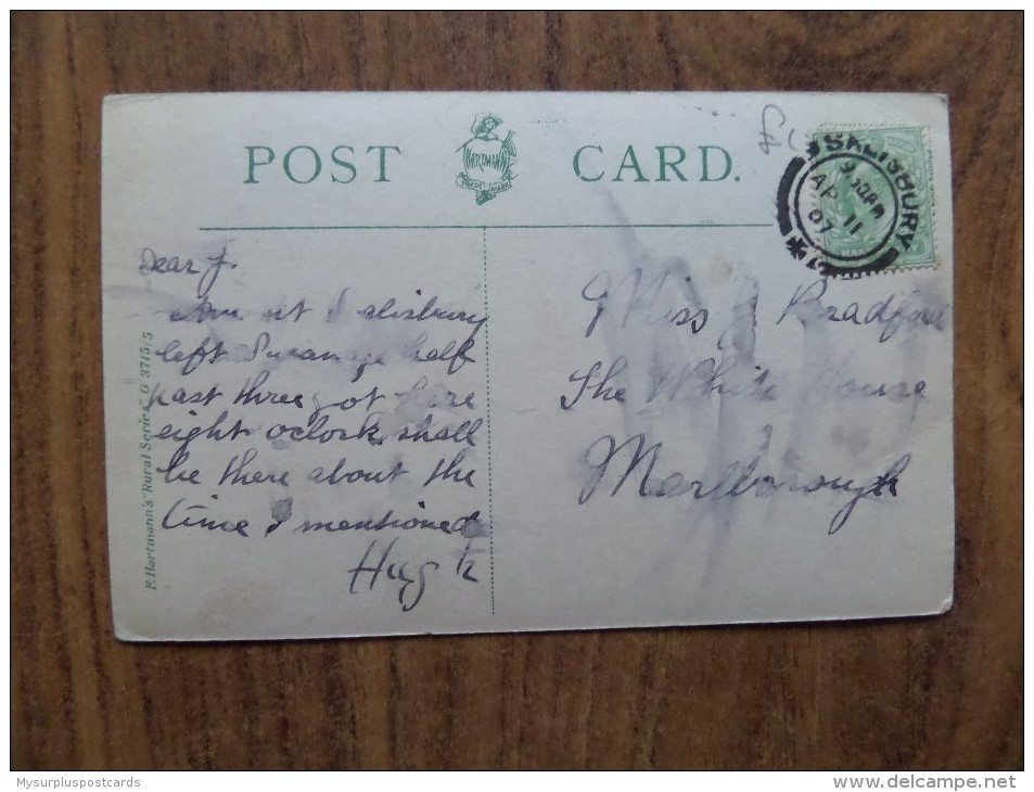 """43473 POSTCARD: UNKNOWN LOCATION - """"A Jolly Place - In Times Of Old; But Something Ails It Now; The Spot Is Cursed"""". - Postcards"""