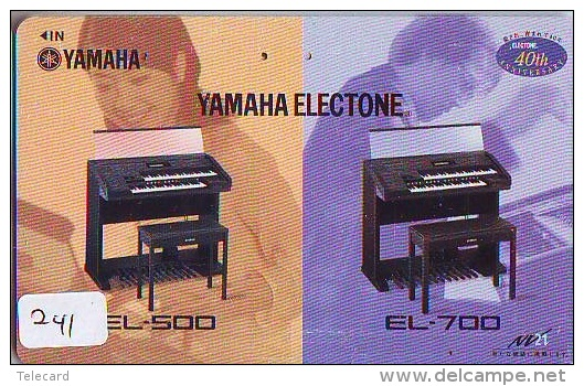 Télécarte Japon * Musique * PIANO * (241) Japan Music Phonecard * KLAVIER Musik Telefonkarte * YAMAHA - Musik