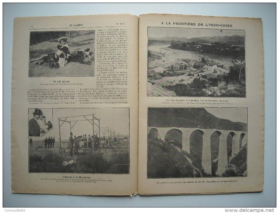 LE PELERIN 1647 De 1908. SAUVETAGE POISSONS DU LAC DES BUTTES-CHAUMONT. INDOCHINE; VILLE DE LAO-KAY, VU DE HO-KEOU..... - Livres, BD, Revues