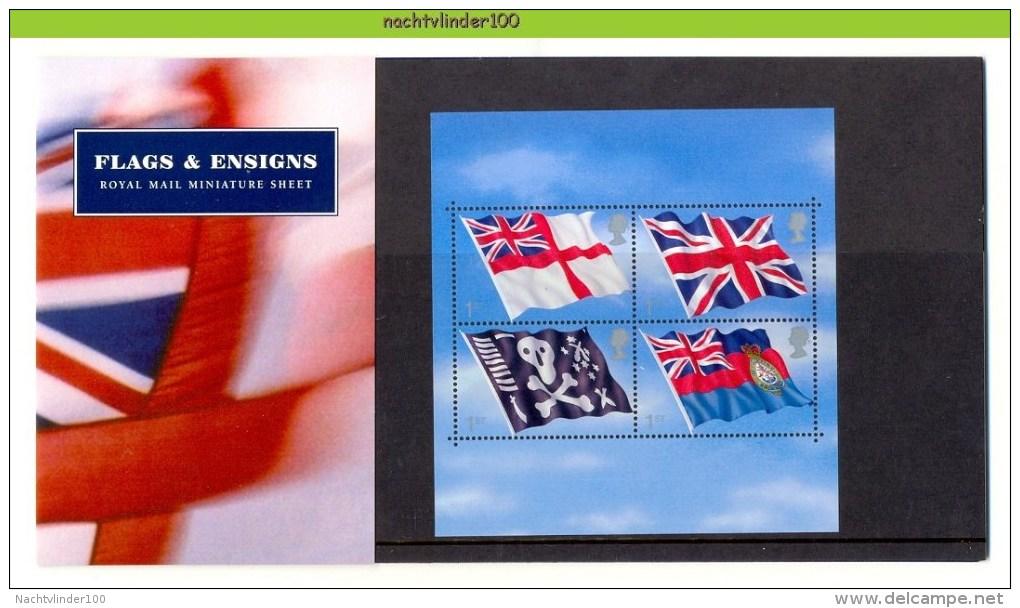 Nbd0304b VLAG FLAGS & ENSIGNS FLAGGEN 100 JAHRE U-BOOT-WAFFE DER ROYAL NAVY GREAT BRITAIN PRESENTATION PACK 2001 PF/MNH - Stamps