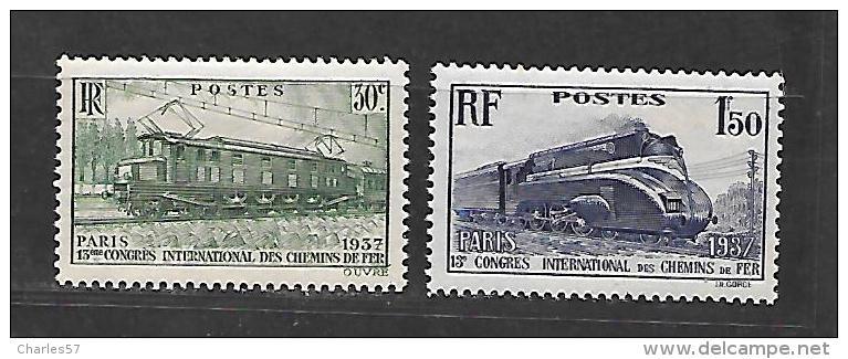 Frfance: N°339/340 ** Locomotives . (gomme Parfaite , Vous Pouvez Demandez Un Scan Verso) - France