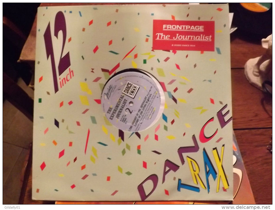 "Album 33t/12\"".THE EXPERIMENTAL JOURNALIST. Blue Print Mix.  1992. - Vinyles"