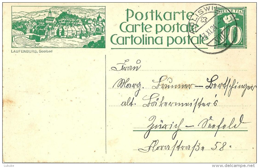 "PK 101  ""Laufenburg, Soolbad""              1924 - Interi Postali"