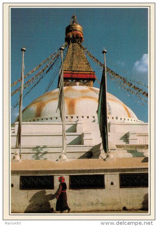 BODHNATH:     LO  STUPA       (NUOVA CON DESCRIZIONE DEL SITO) - Nepal