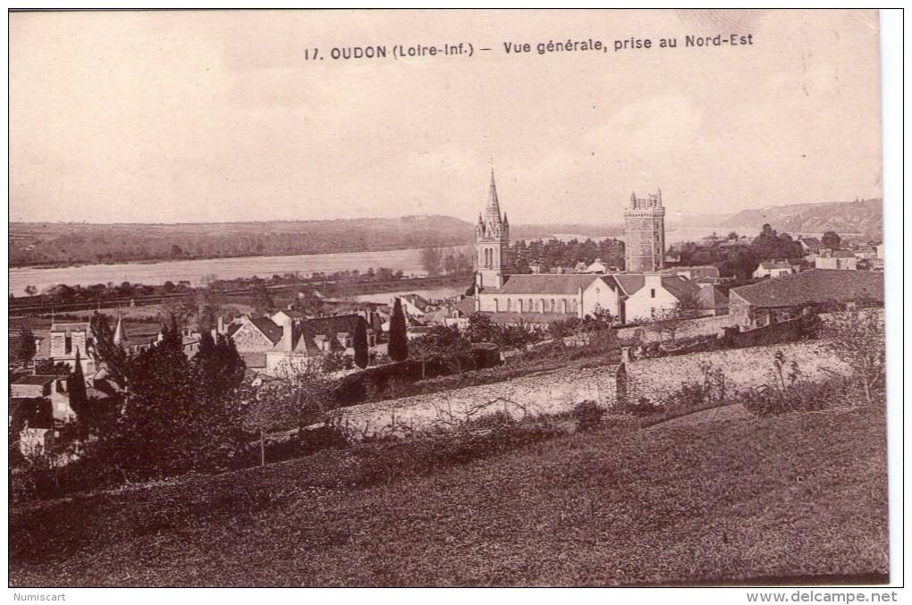 Oudon.. Belle Vue De La Ville.. L'Eglise.. La Tour - Oudon