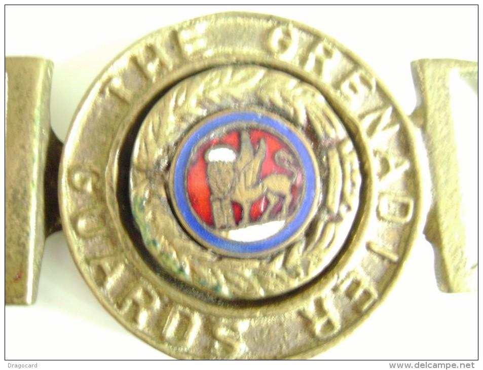 THE GRENADIER GUARDS  LEONE SAN MARCO  VECCHIA FIBBIA Militare  PER CINTURA DA IDENTIFICARE - Uniforms