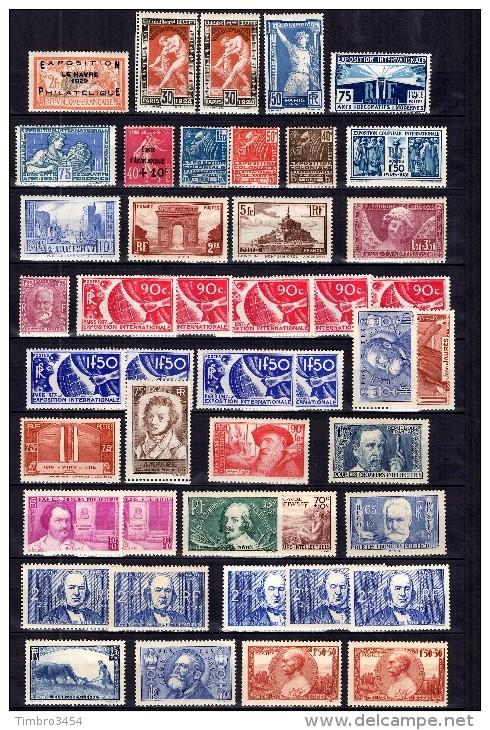 France Belle Collection Neufs * Entre 1924 Et 1940. Gommes D'origine. Bonnes Valeurs. B/TB. A Saisir! - France