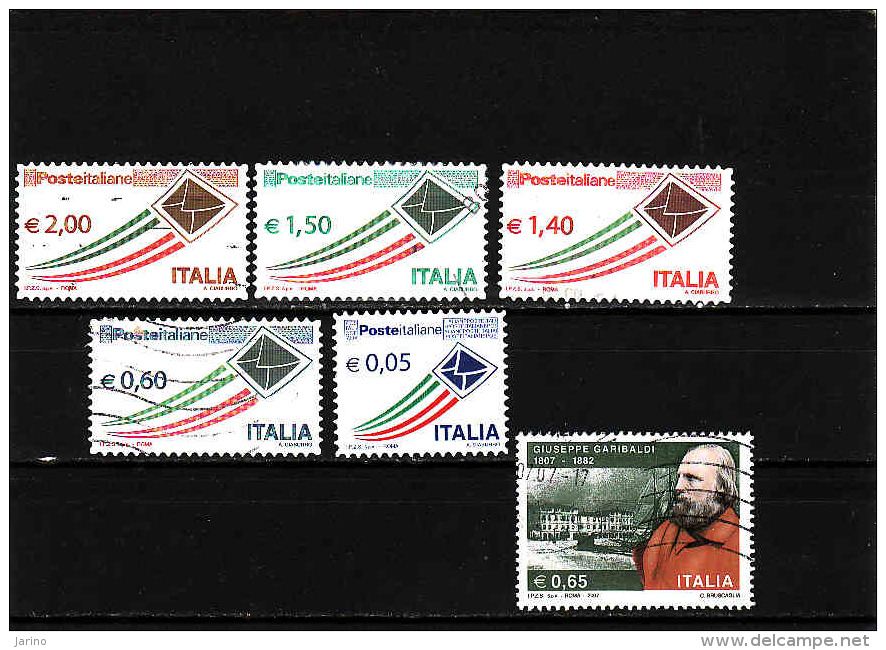Italia  2009, 2010,....,Garibaldi,..... Used - 6. 1946-.. Republic