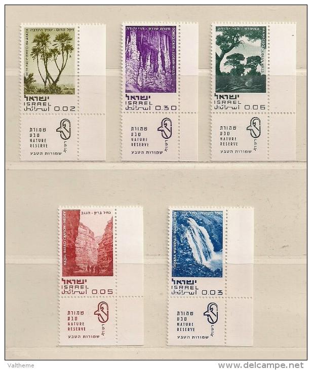 ISRAEL   ( D16 - 7594 )  1970  N° YVERT ET TELLIER  N°  394/398   N** - Neufs (avec Tabs)