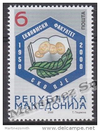 Macedonia 2000 Yvert 210A, 50th Ann. University Economics - MNH - Macedonia
