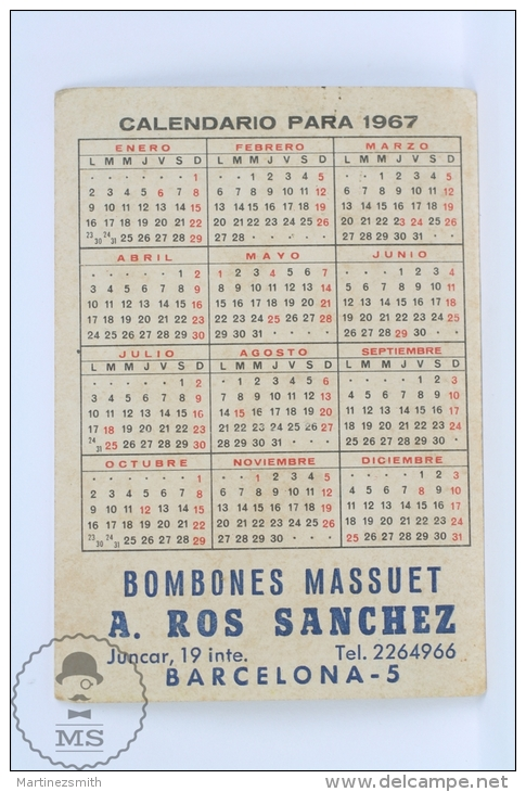 1967 Small/ Pocket Calendar - Pin Up Sexy Blonde Lady In Bath Suit - Calendarios