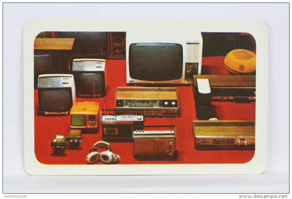 Vintage 1979 Small/ Pocket Calendar - Television & Radio Products - Czech Advertising - Calendarios