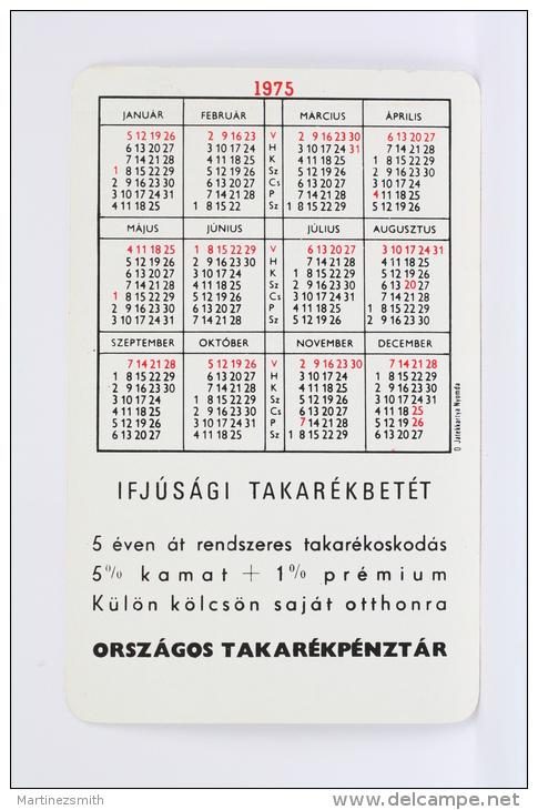 1975 Small/ Pocket Calendar - Igen Van Ifjusagi - Hungarian Advertising - Calendarios