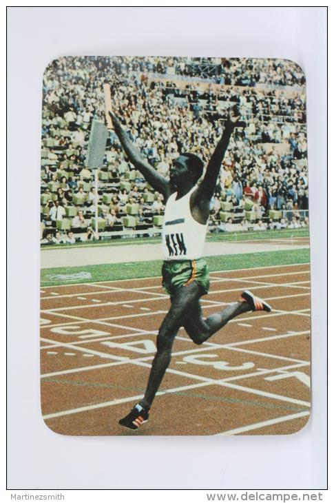 1974 Small/ Pocket Calendar - Athletics - Kenia Runner - Gold Medal In 4 X 100 - Calendarios
