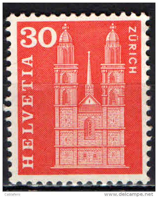 SVIZZERA - 1960 - CATTEDRALE DI ZURIGO - NUOVO MNH - Suiza