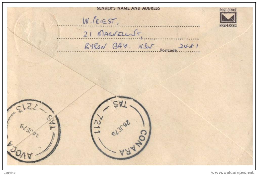 (888 PH) Australia Prepaid Envelope - 18 C - Posted From NSW To TAS And Return To Sender - Loch Ard Postmark - Australia