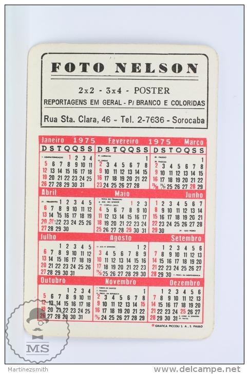 1975 Small/ Pocket Calendar - Sorocaba, Rodo Center, Brasil - Tamaño Pequeño : 1971-80