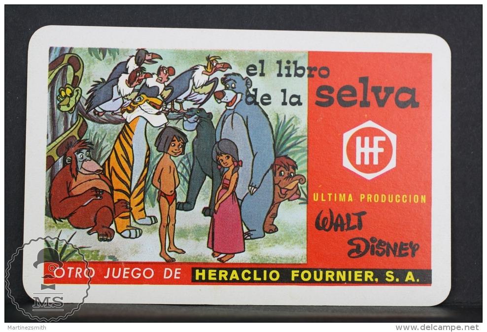 1969 Small/ Pocket Calendar - Walt Disney The Jungle Book  - Edited By Heraclio Fournier Spain - Calendarios