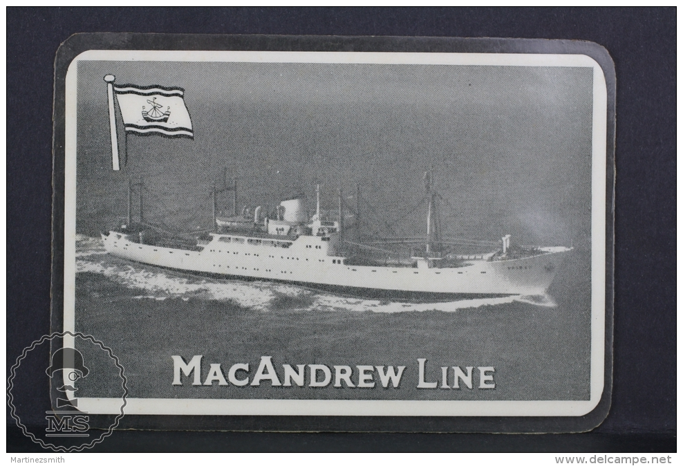 1960 Small/ Pocket Calendar - MacAndrew Line Ship/ Boat - Tamaño Pequeño : 1941-60