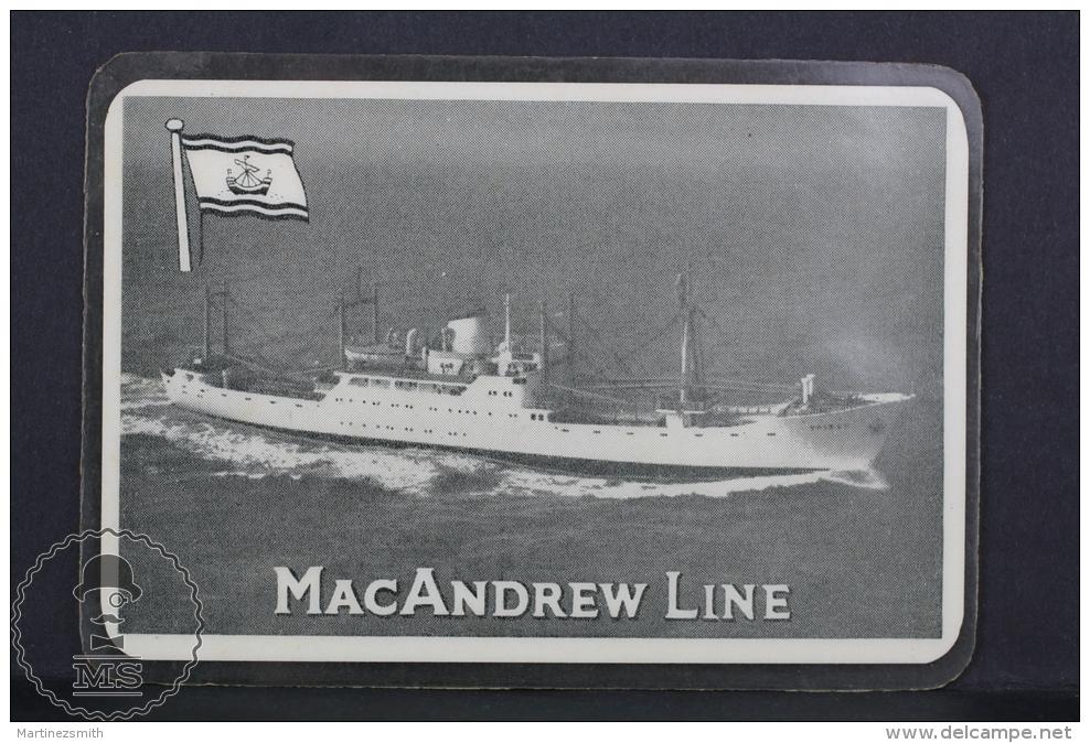 1960 Small/ Pocket Calendar - MacAndrew Line Ship/ Boat - Calendarios
