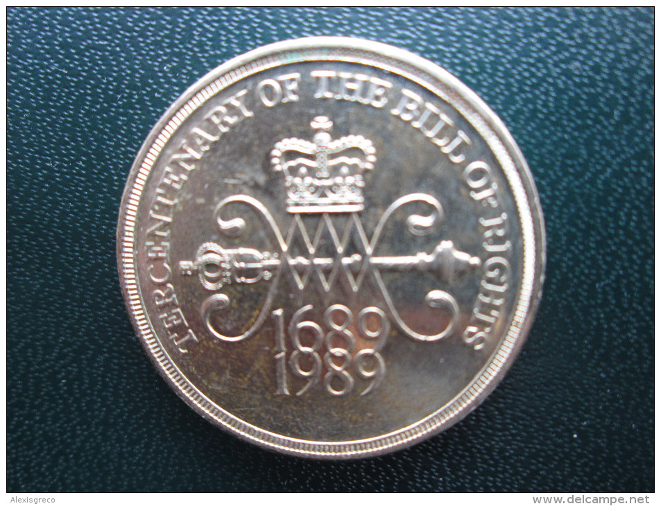 Great Britain 1989 TWO POUNDS COIN BILL Of RIGHTS Used In GOOD CONDITION. - 1971-… : Monete Decimali