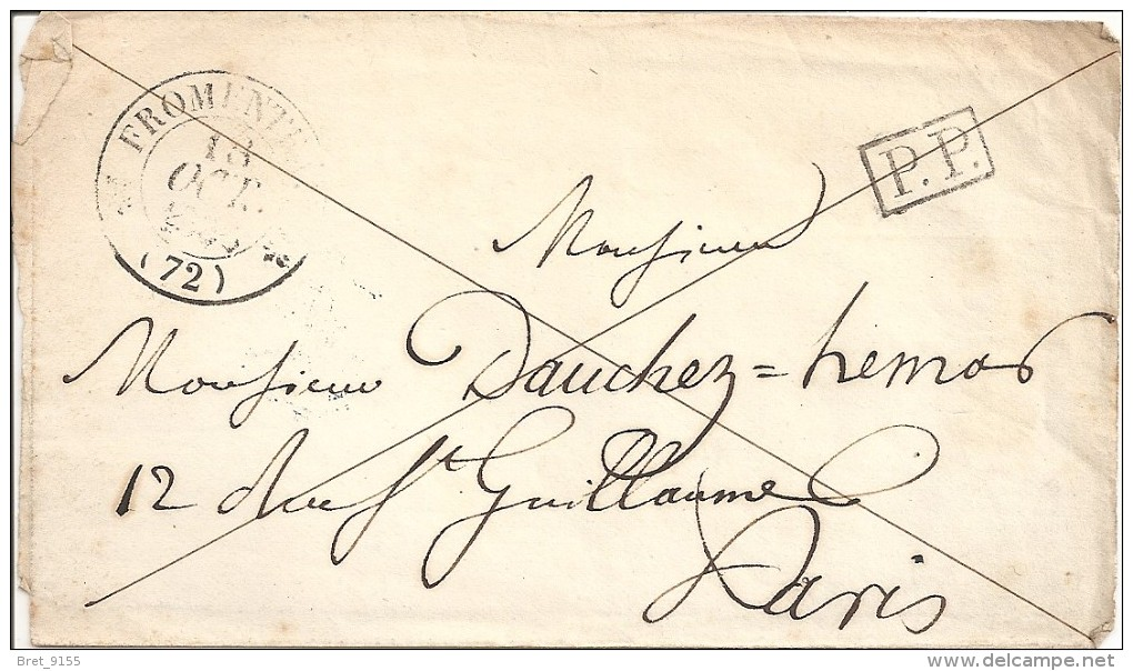 78 LETTRE DE FROMENTEAU SEINE ET OISE, CACHET TYPE 12 DU 13 OCTOBRE1838 - Marcophilie (Lettres)
