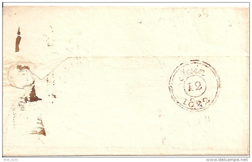 51 LETTRE DE REIMS N° 49 DU 12 JUIN 1822 ADRESSEE A PARIS - Marcophilie (Lettres)