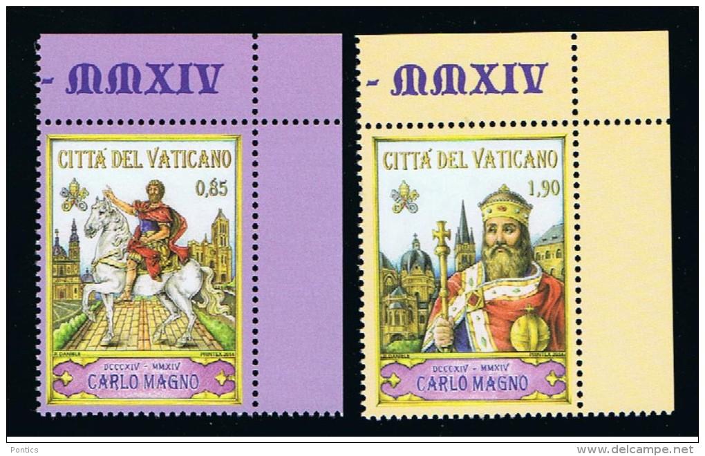 2014 - VATICAN - VATICANO - VATIKAN - D16G - MNH  SET OF 2 STAMPS ** - Vaticano