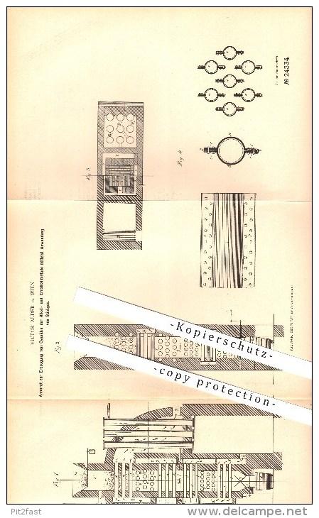 Original Patent - Victor Alder In Wien , 1895 , Apparat Zur Erzeugung Von Cyaniden Mittels Stickgas , Chemie !!! - Documents Historiques
