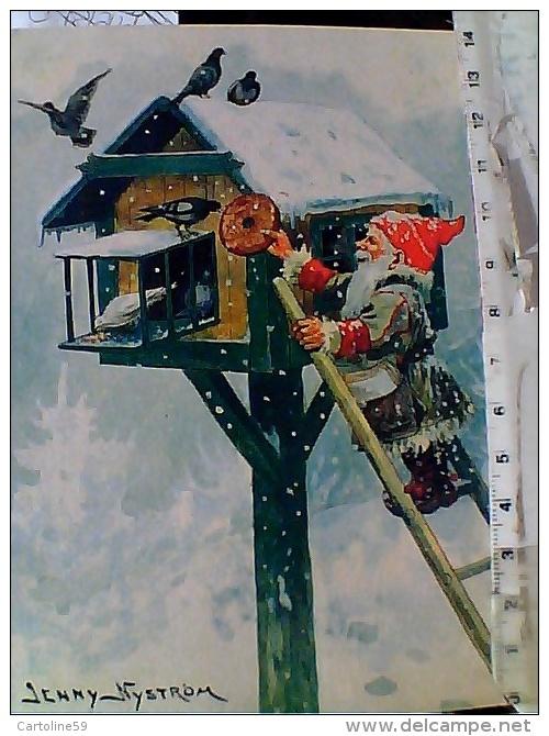 BABBO NATALE SANTA CLAUS ILLUSTRAZIONE JENNY NYSTROM GNOMO   V1980  ET16318 - Natale