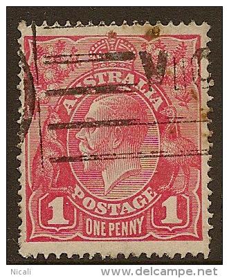 AUSTRALIA 1916 1d Light Red SG 47a U #LW31 - 1913-36 George V: Heads