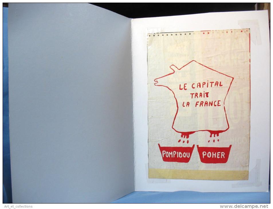 """Affiche Contestataire """"Le CAPITAL TRAIT LA France""""/ 1969 - Autres Collections"""