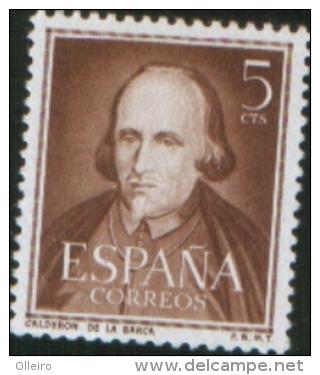Spagna Spain Spanien Espagne 1951 Pedro Calderon De La Barca 1v  ** MNH - 1931-Hoy: 2ª República - ... Juan Carlos I