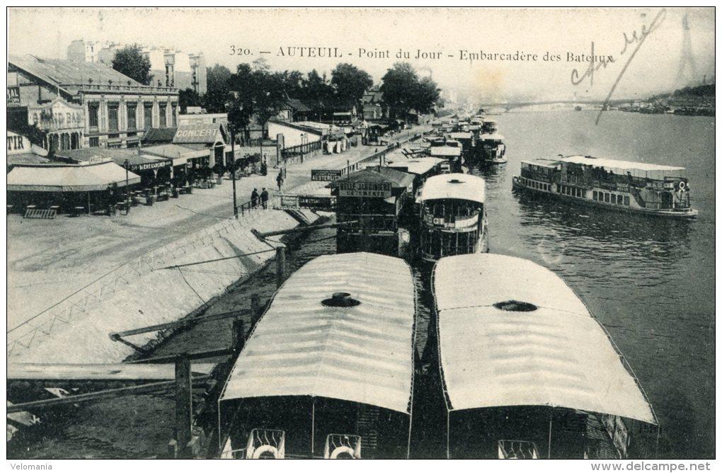 C4071 Cpa 75 Auteuil - Point Du Jour, Embarcadère Des Bateaux - Arrondissement: 16
