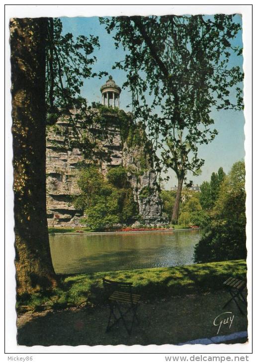 PARIS 19°--1972-- Le Temple Et Le Lac Du Parc Des Buttes Chaumont ,cpsm 15 X 10  N° 5368  éd Guy - Arrondissement: 19