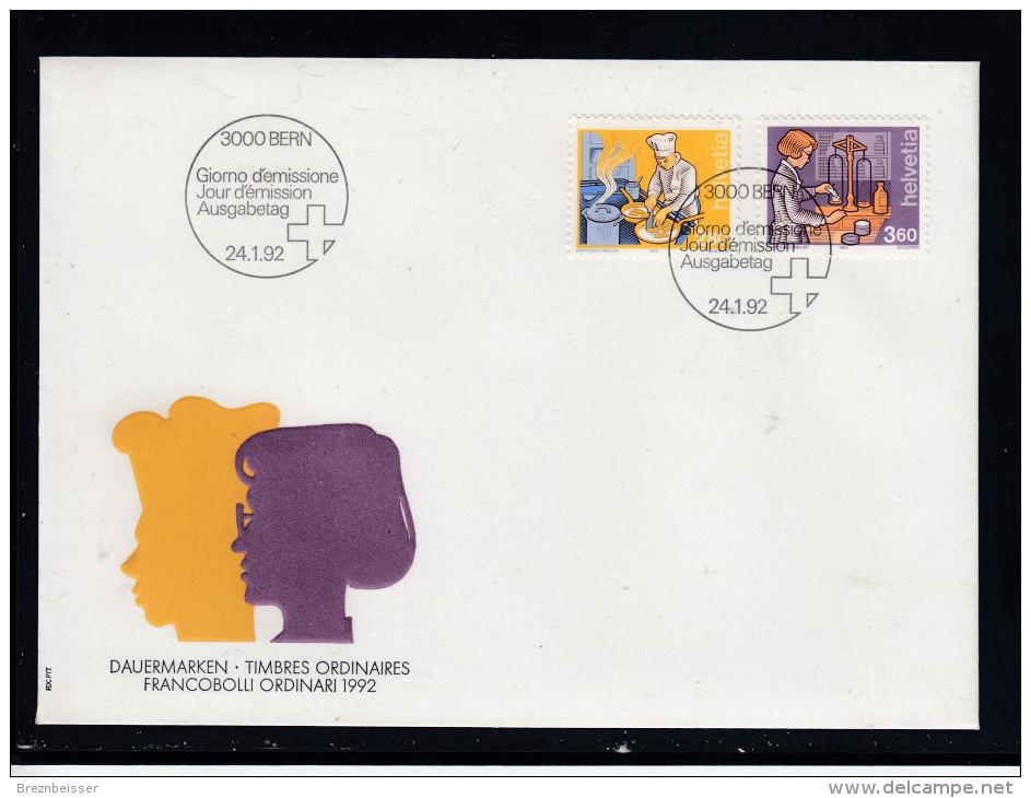 Schweiz  MiNr. 1463 / 1464  Illustr. Ersttagsbrief / FDC - FDC