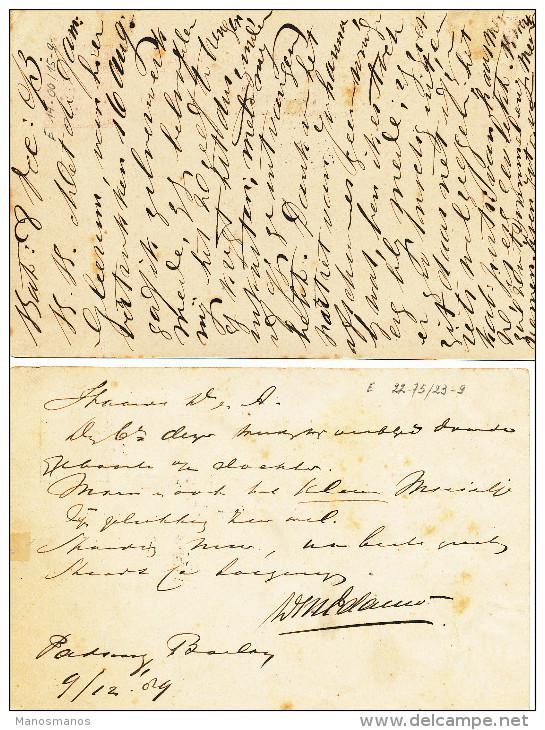 EB24 - NETHERLANDS INDIES 5 Maritime Cards 1881/1893 - NED INDIE VIA BRINDISI - Nederlands-Indië
