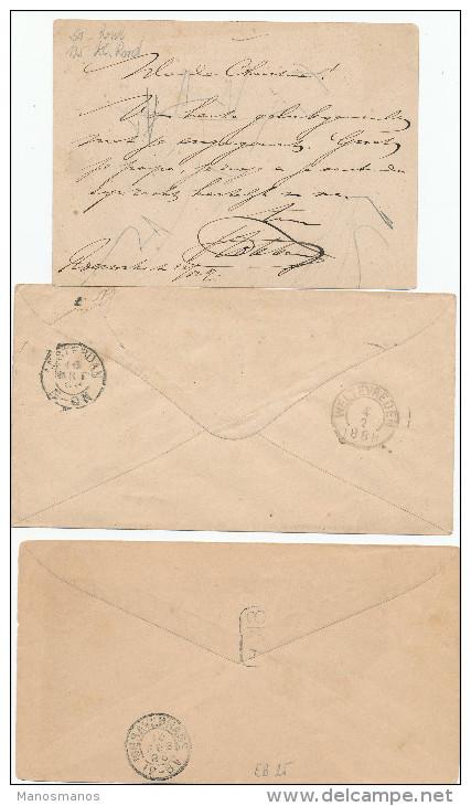 EB26 - NETHERLANDS INDIES 3 Maritime Covers/Card 1888/1895 - NED INDIE VIA MARSEILLE - Indes Néerlandaises