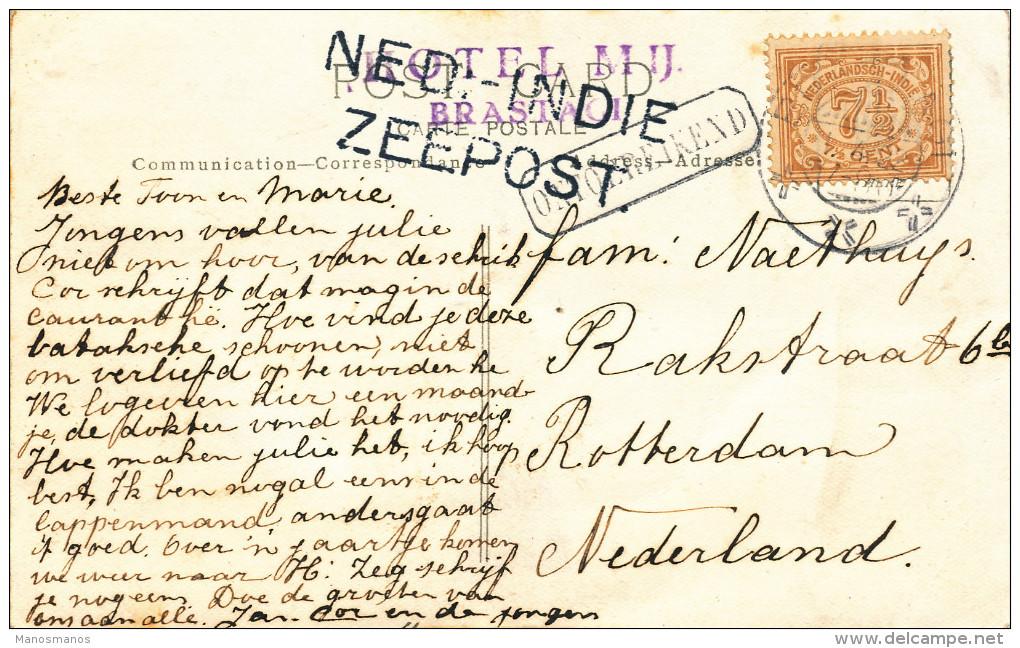 EB30 - NETHERLANDS INDIES Maritime Card 1922 - NED INDIE ZEEPOST - Indes Néerlandaises