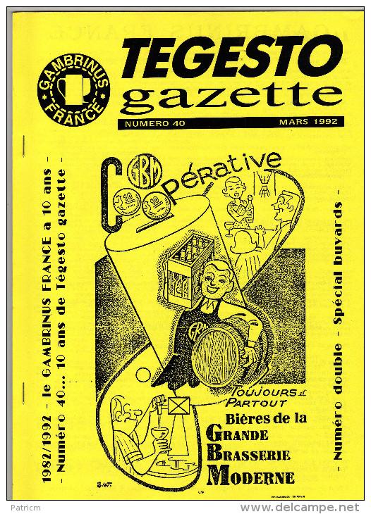 Bulletin Du Club De Collectionneurs Gambrinus France N°40 (Biere & Brasserie) De L´année 92 - Non Classés