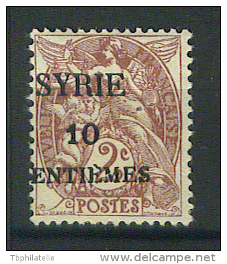 VEND BEAU TIMBRE DE SYRIE N° 105 , SURCHARGE DECALLEE , NEUF !!!! - Syria (1919-1945)