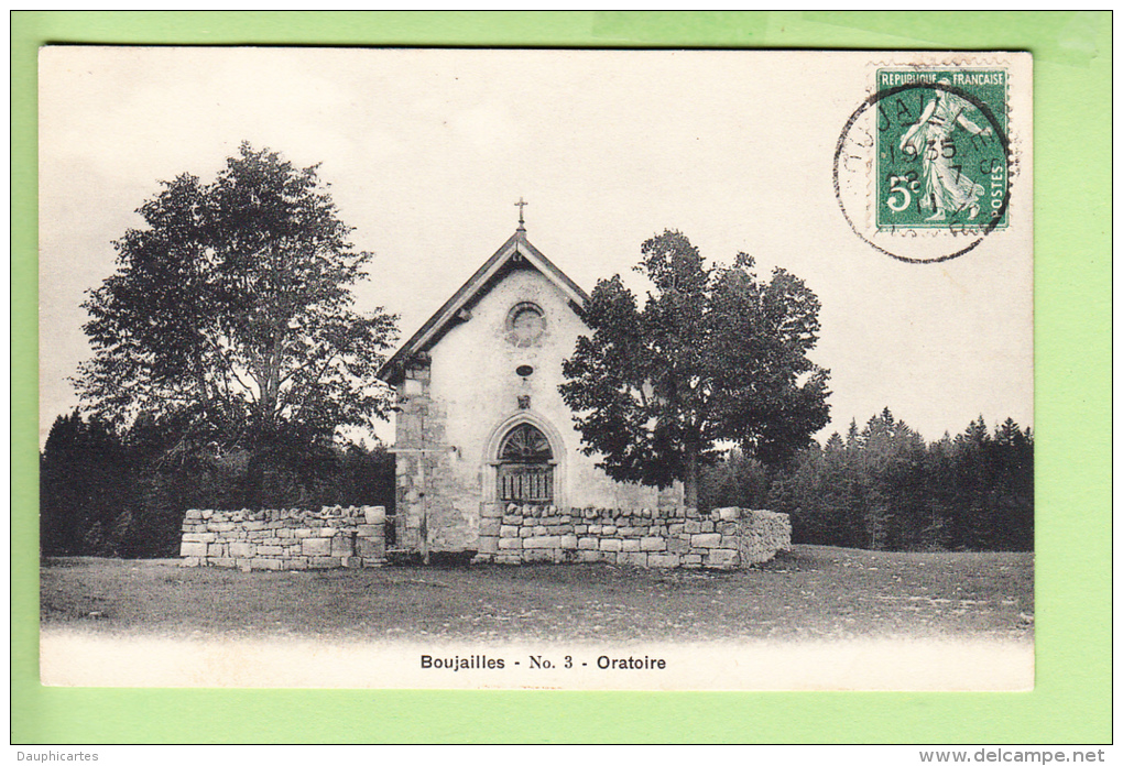 BOUJAILLES - ORATOIRE - Edit. Breger - BE - 2 Scans - France