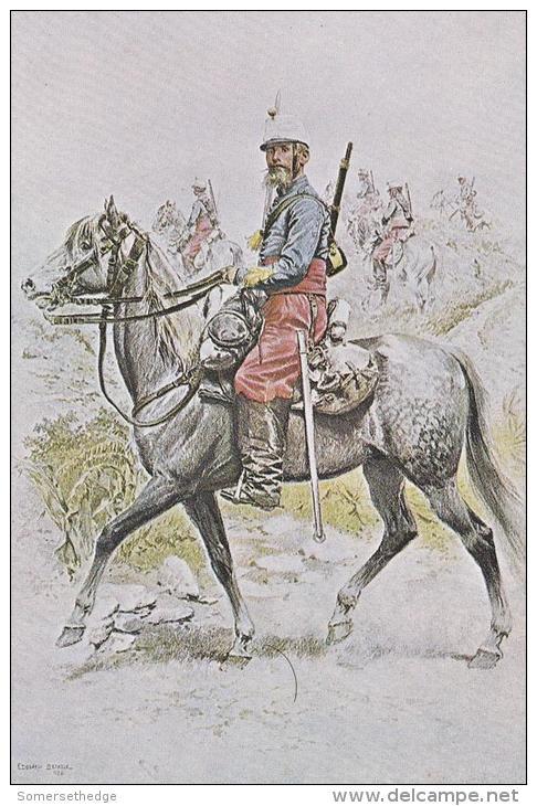 Cuirassiers D' Afrique Tenue De Campagne 1886 Uniform Postcard (U15003) - Uniformes