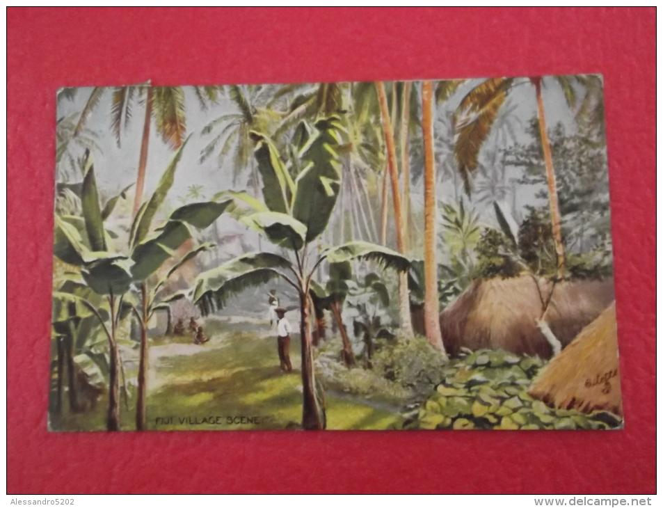 Fiji Village Scene 1914 Ed. Raphael Tuck - Figi